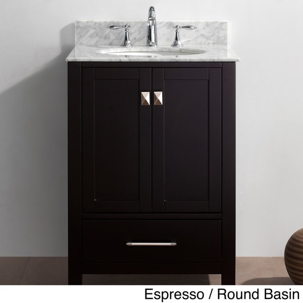 Virtu usa caroline avenue 24 inch single sink bathroom for Virtu usa caroline 36 inch single sink bathroom vanity set