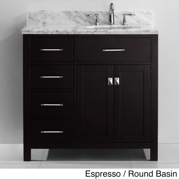 virtu usa caroline parkway 36 inch single sink bathroom vanity set