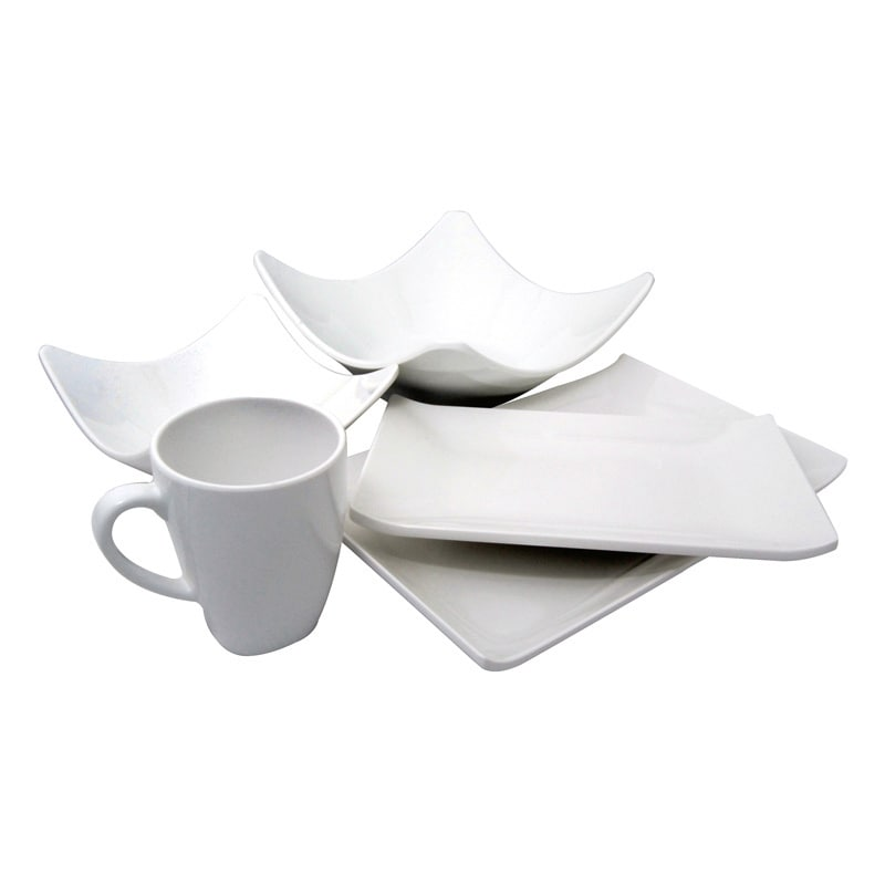 white melamine dinnerware gibson studio line by laurie