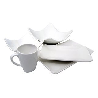 White Melamine 5-piece Dinnerware Set