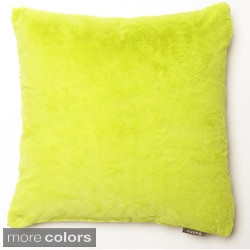 Faux Mink 12x12-inch Decorative Pillows (Set of 2)