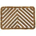 Rubber-Cal 'Herringbone' Coir Doormat (18 x 30)