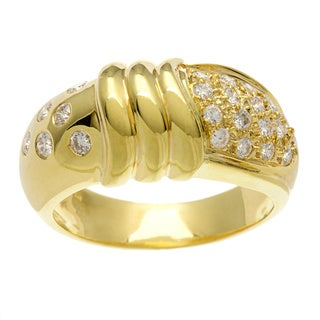 Kabella Luxe 18k Yellow Gold Vintage 1/2ct TDW Diamond Dome Ring (G-H, SI1-SI2)