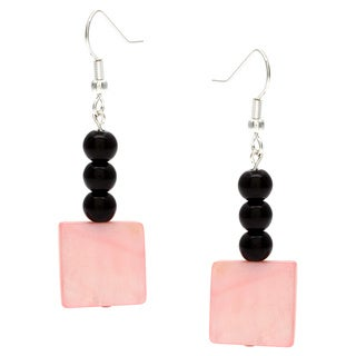 Karla Patin Pink and Black Dangle Earrings