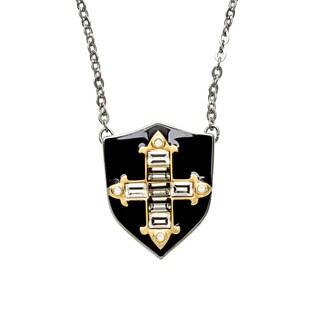 Swarovski Sword Shield Pendant Necklace