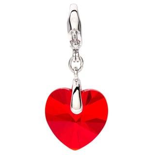 Swarovski Crystal Light Siam Heart Charm