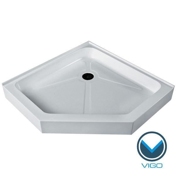 Vigo White Neo-Angle Shower Tray