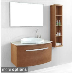 Virtu USA 40-inch Anabelle Single Sink Bathroom Vanity Set