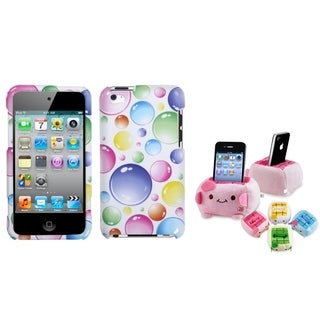 BasAcc Rainbow Bubbles Case/ Plush Holder for Apple iPod Touch 4