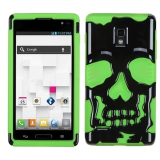 BasAcc Black/ Electric Green Skullcap Case for LG P769 Optimus L9