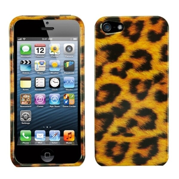 INSTEN Leopard Skin Phone Case Cover for Apple iPhone 5