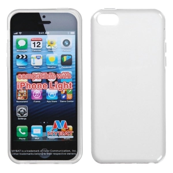 INSTEN Semi-transparent White Candy Skin Phone Case Cover for Apple iPhone 5C