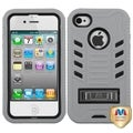 BasAcc Natural Black/ Grey TUFF Case for Apple iPhone 4/ 4S