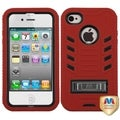 BasAcc Natural Black/ Red TUFF Case for Apple iPhone 4/ 4S
