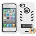BasAcc Natural Black/ White TUFF Case for Apple iPhone 4/ 4S