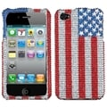 BasAcc United States Flag Diamante Case for Apple iPhone 4/ 4S