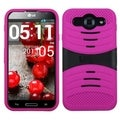 BasAcc Black/ Hot Pink Wave Case with Stand for LLG E980 Optimus G Pro