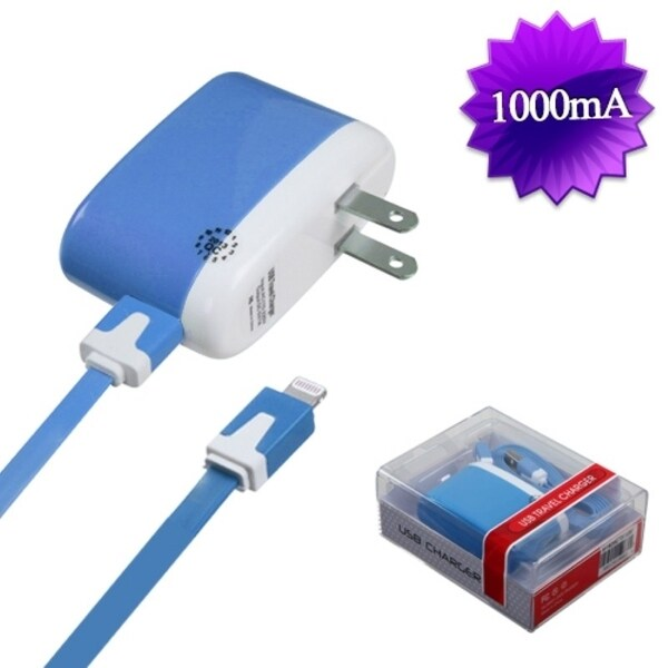 Insten 2-in-1 Micro USB Travel Charger with USB-interface Noodle Cable Cord