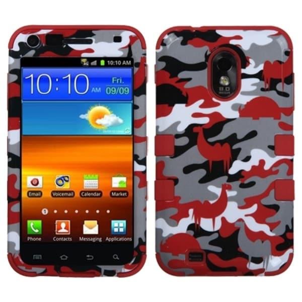 INSTEN Red Desert Camo/ Red TUFF Hybrid Phone Case Cover