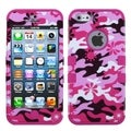 BasAcc Pink Flower Camo/ Hot Pink TUFF Hybrid Case for Apple iPhone 5