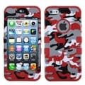 BasAcc Red Desert Camo/ Red TUFF Hybrid Case for Apple iPhone 5