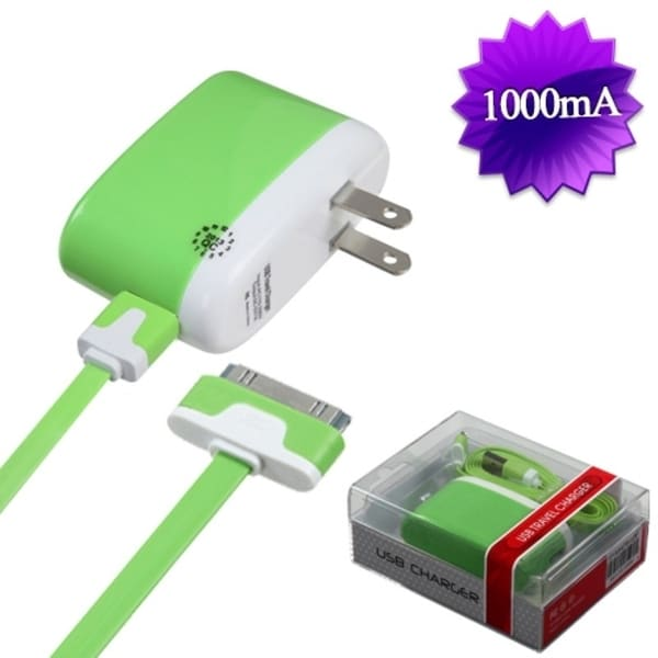 BasAcc 30-pin Green Travel Charger for Apple iPhone 3G/ 3GS/ 4/ 4S