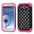 BasAcc Black/ Hot Pink TotalDefense Case for Samsung Galaxy S3
