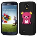 BasAcc Hot Pink 3D Bear/ Black Astronoot Case for Samsung Galaxy S4