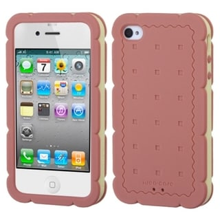 BasAcc Baby Purple/ Black Biscuit Sandwich Case for Apple iPhone 4S/ 4