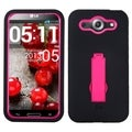 BasAcc Hot Pink/ Black Case with Stand for LG E980 Optimus G Pro