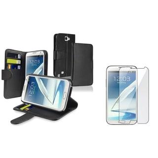 BasAcc Wallet Case/ Screen Protector for Samsung Galaxy Note II N7100