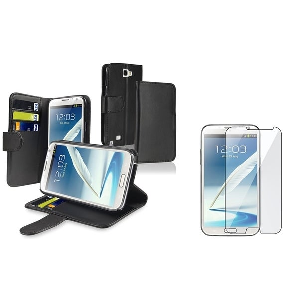 INSTEN Wallet Phone Case Cover/ Screen Protector for Samsung Galaxy Note II N7100