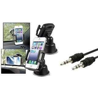 BasAcc Universal In-car Cell Phone Holder/ Retractable Audio Cable