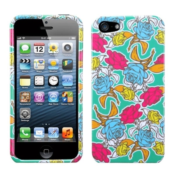 INSTEN Rose Garden Phone Case Cover for Apple iPhone 5
