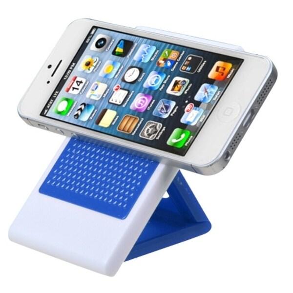 INSTEN Blue Foldable Anti-skid Phone Holder for Apple iPhone 5