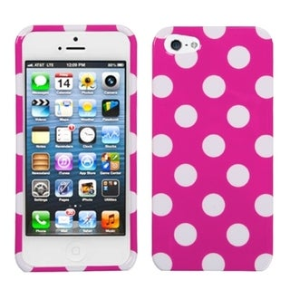 BasAcc white polka dots /hot pink case for Apple iPhone 5