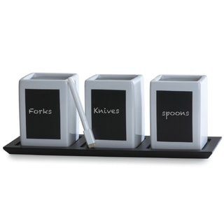 Towle Living 3-piece Chalkboard Caddy Set and Tray