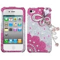 BasAcc Pink Butterfly Chain Diamante Case for Apple iPhone 4/ 4S