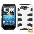 BasAcc Solid Ivory White/ Black Fishbone Case for HTC Inspire 4G