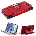 BasAcc Red Rotatable MyJacket Wallet for Samsung Galaxy S III