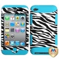 BasAcc Zebra Skin/Tropical Teal TUFF Case for Apple iPod Touch 4