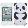 BasAcc Black Panda Silicone Skin Case for Apple iPhone 4/ 4S