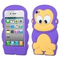 BasAcc Electric Purple Monkey Pastel Skin Case for Apple iPhone 4/ 4S