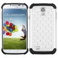 BasAcc White/ Black Lattice TotalDefense Case for Samsung Galaxy S IV