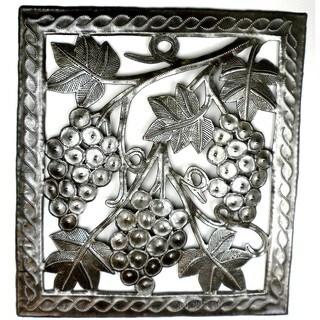 Handmade Grapes on the Vine Metal Wall Art (Haiti)