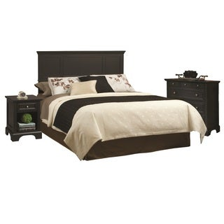 Bedford Black King Headboard, Night Stand, and Chest
