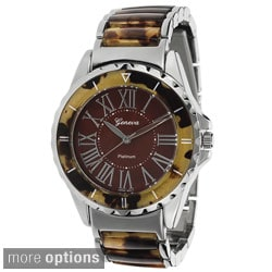Geneva Platinum Women's Roman Numeral Quartz Link Watch