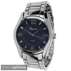 Geneva Platinum Men's Polished Link Watch