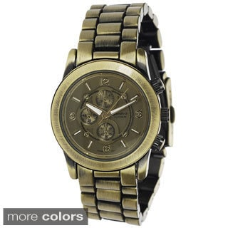 Geneva Platinum Women's Stainless Steel Chronograph Link Watch