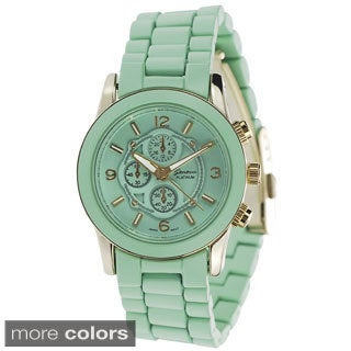 Geneva Platinum Women's Chronograph-style Link Japanese Quartz Watch